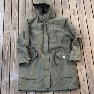 The north face parka jacket green xl women's